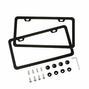 Benvo License Plate Frames 2 Pcs Stainless Steel Car Licence Plate Covers Sli