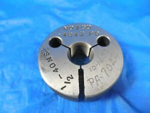 1 2 40 Ns Thread Ring Gage 5 No Go Only P d 4842 Quality Inspection Tool