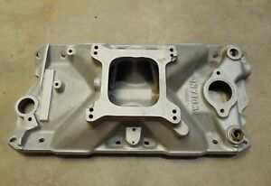 1970 S Vintage Weiand 7508 X Terminator Aluminum Intake Manifold Sbc Chevy