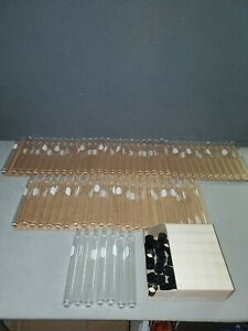 67 Pyrex Laboratory Glassware Glass Tubes 18 X 150 Mm 9825 With Screw Caps