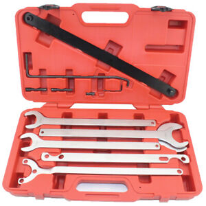 8pc Mercedes Benz Bmw Viscous Fan Clutch Water Pump Wrench Holder Tool Set