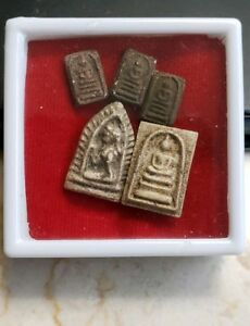 5 Miniature Thai Buddhist Amulets