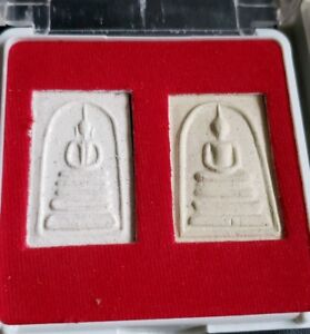Thai Wat Rakang Buddhist Amulets In Temple Box