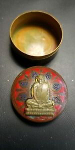 Antique Thai Buddhist Holy Wax Bronze Case Click To View My Ebay Store
