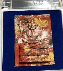 Thai Buddhist Amulet In Temple Box