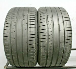 Two Used 315 35r20 3153520 Pirelli Pzero Run Flat Bmw 7 32 A92