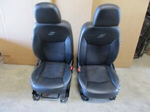 2012 Chrysler 200s 200 Sedan Black Leather Front Bucket Seats W Suede