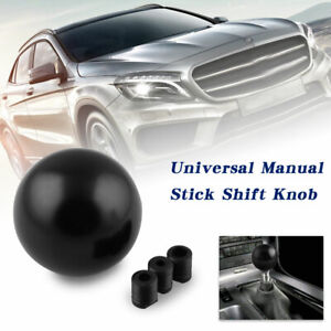 Car Gear Shift Knob Manual Transmission Black Round Ball With Adapter Universal