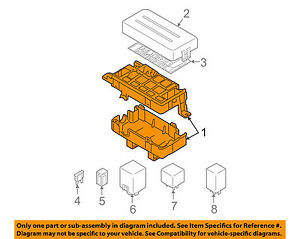 Chevrolet Gm Oem 04 06 Aveo Electrical fuse Relay Box 96539834