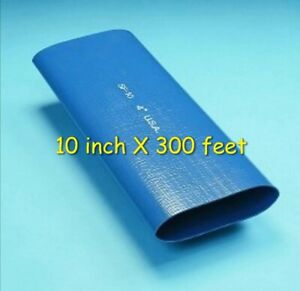 300 Ft Roll Of 10 Blue Pvc Lay Flat Water Discharge Hose Sf 10