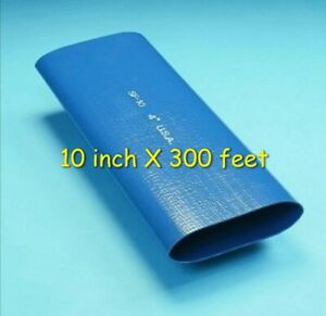 1 Roll Of 10 Blue Pvc Lay Flat Water Discharge Hose Sf 10 300 Ft