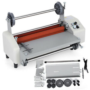 2018 Latest Version 13 Four Rollers Hot And Cold Roll Laminating Machine