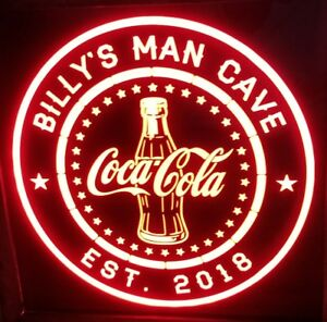 Coca-Cola Coke LED Sign Personalized, Home bar pub Sign, Lighted Sign