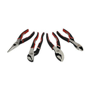 Aircraft Tools Craftsman 4pc Plier Set swan Neck cutters Slip Joint longnose