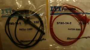 Pomona 3780 24 0 3780 24 2 Mini Grabber Patch Cord 24 One Red And One Black