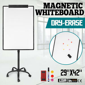 Mobile Dry Erase Board 29 x42 Magnetic Single Sided Whiteboard Stand
