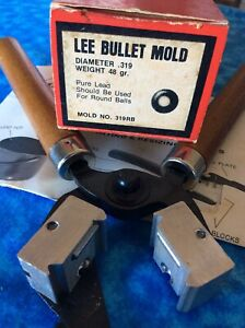 LEE Bullet Mold Round Ball Diameter.319 Weight 48 Gr Mold # 319RB NOS $29.95