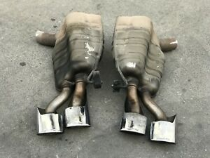 E55 Amg W211 Mufflers Tips Oem Factory Mercedes Benz Exhaust 03 04 05 06 Amg Set