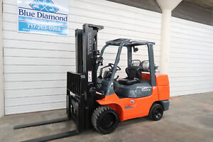 Toyota Forklift Model 7fgcu45 10 000 Cushion Lp Gas Sideshift 4 Way Hyd