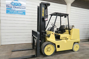 Hyster S155xl 15 000 Cushion Tire Forklift Lpg Three Stage S s Yale Glc155