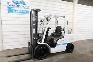 2014 Nissan Unicarriers 6 000 Pneumatic Tire Forklift Lp Gas 3 Stage S s