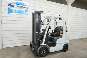 2017 Nissan Unicarriers 6 000 Cushiontire Forklift Lp Gas 3 Stage 4 Way
