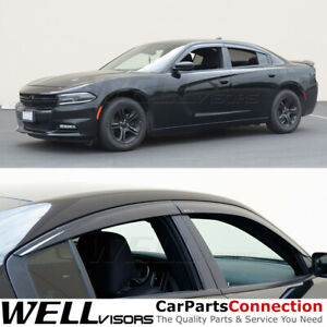 Wellvisors For 11 19 Dodge Charger Side Window Visors Rain Guards Deflectors