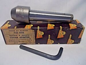 Vintage Brown Sharpe b s 719 608 Cutter Adapter 5 8 End Mill Holder No 9