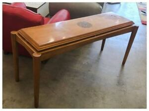 Vintage Retro Art Deco Wood Entry Couch Table