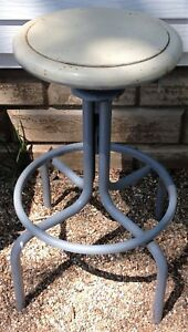 Vintage Royal Metal Mfg Co Industrial Seating Swivel Stool Steampunk