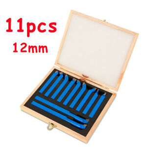 11 piece Suit Welding Knife Cutting Turning Tools 12mm Metal Lathe Set Bits Top