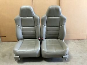 Ford F250 F350 Super Duty Truck Crewcab Lariat Front Leather Bucket Seats