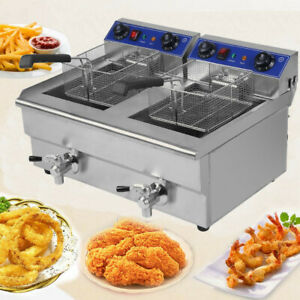 26l 33000w Electric Deep Fryer Countertop Home Commercial Restaurant Tool Br