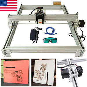 Us 40x50cm 500mw Cnc Laser Engraving Machine 2axis Dc 12v Diy Engraver Desktop