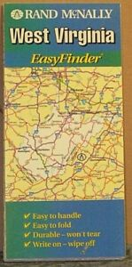 1999 Rand Mcnally Easy Finder Laminated Map Of West Virginia