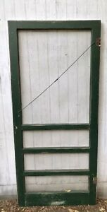 Vintage Antique Wood Farmhouse Screen Door