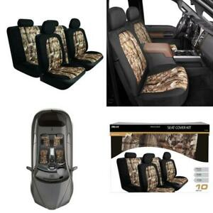 10 Pcs Pilot Seat Cover Camouflage Makeover Kit Camo Vehicle Truck Universal Fit