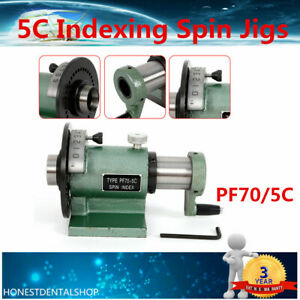 Pf70 5c Collet Spin Indexing Fixture For Grinders Milling Machines