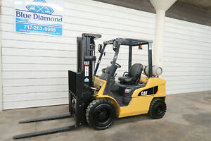 2012 Cat 2p6000 6 000 Lp Gas Forklift Pneumatic Tire Three Stage S s