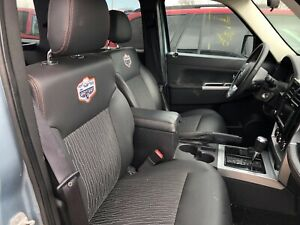 Jeep Liberty Artic Front And Rear Leather Cloth Bucket Seats W Heat