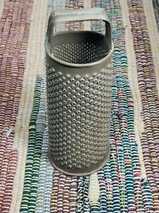 Antique Punched Tin Grater Round W Handle Farmhouse Luminary Decor