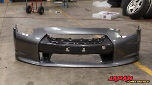 09 10 Nissan R35 Gtr Oem Abs Front Bumper Bar Cover Dark Gray