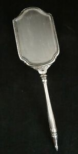 Antique Art Deco Sterling Silver Hand Mirror Early 1900 S 14 X 4