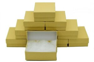 10 Pieces Kraft Cotton Filled Jewelry Gift Boxes 3 1 8 X 2 1 8 X 1