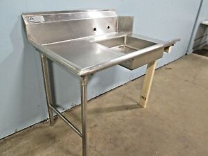 advance Tabco Hd Commercial nsf S s Left Side Dirty Ss Dish Washing Table