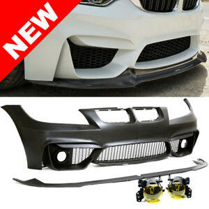 F80 M3 Style Bumper W Yellow Fogs For 2006 2008 Bmw E90 E91 3 Series Sedan