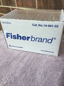Fisher Brand Disposable Culture Tubes 18x150mm 125 Per Box 14 961 32 Free Ship