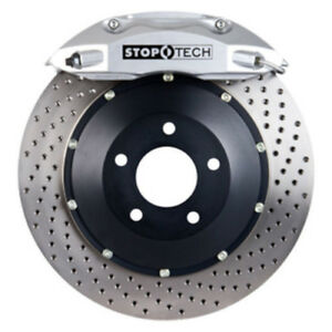 Stoptech 01 06 Bmw M3 St 40 Silver Calipers 355x32mm Drilled Rotors Rear Big Bra