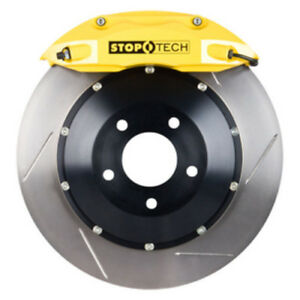 Stoptech 93 95 Mazda Rx 7 Front Big Brake Kit W Yellow St 40 Calipers Slotted 3