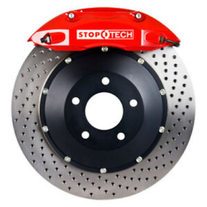 Stoptech 06 12 Mitsubishi Eclipse Red St 40 Calipers 355x32mm Drilled Rotors Fro